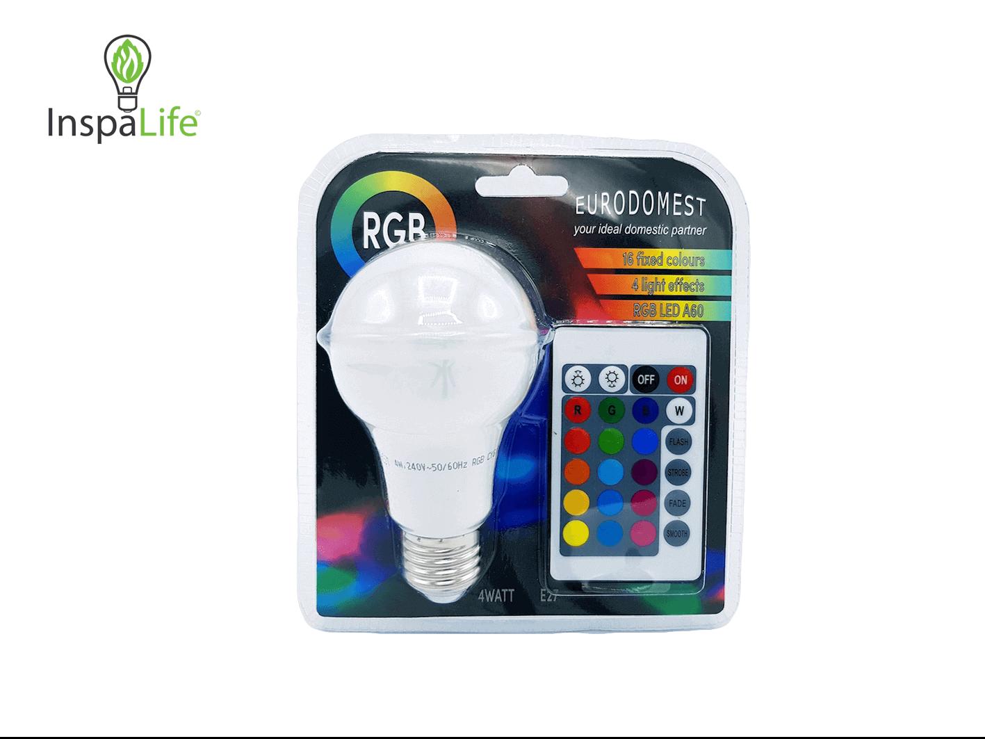 Lampen Op Afstandsbediening : Inspalife groene producten rgb led lamp met afstandsbediening